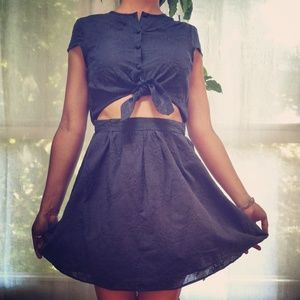 👗Pinup Rockabilly Midriff Esley Vintage Cotton 👗